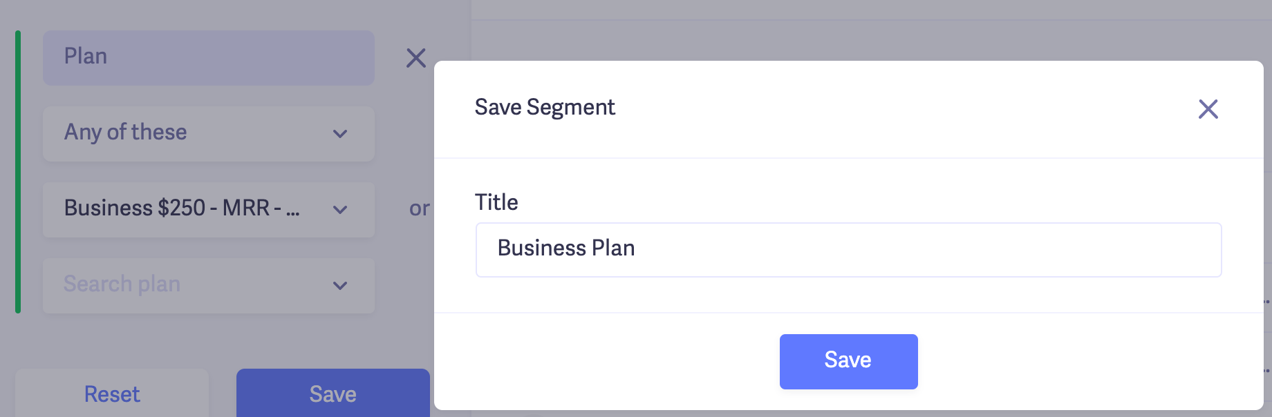 Save Segments in Baremetrics