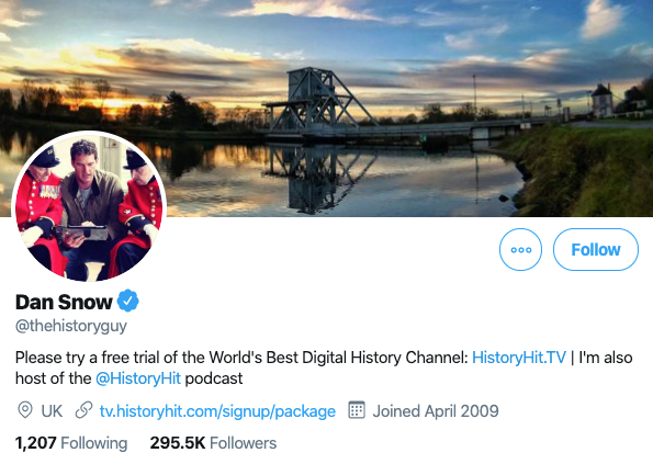 dan snow twitter profile