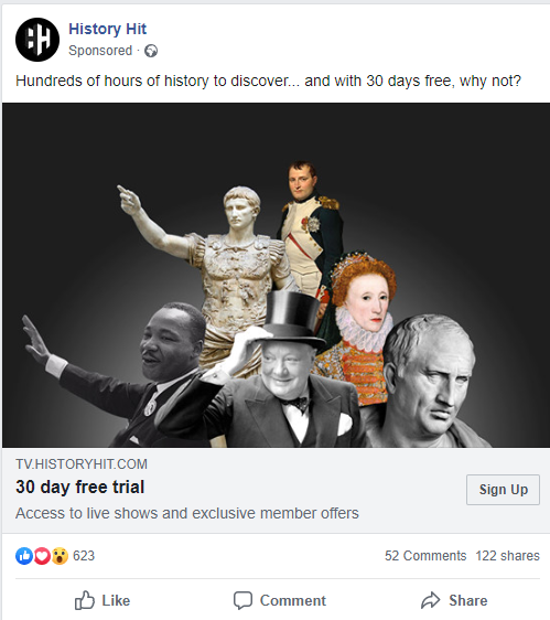 history hit facebook ad