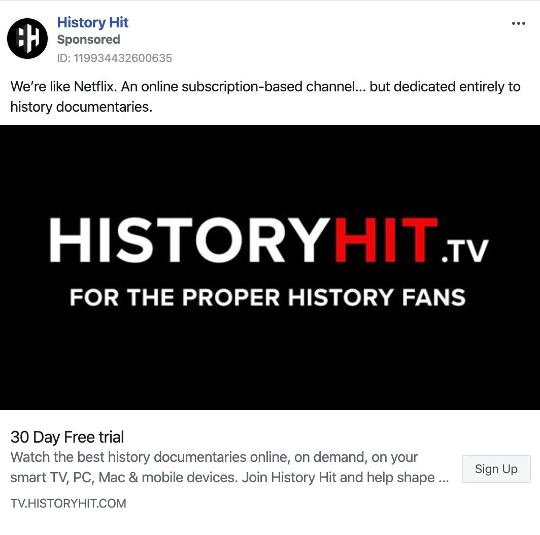 history hit tv ad