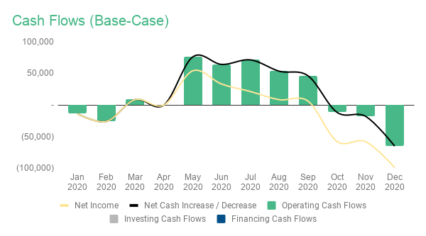 cash flows base case
