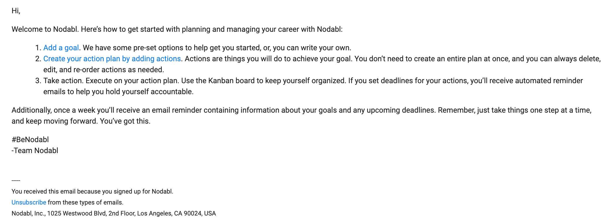 nodabl welcome email 2