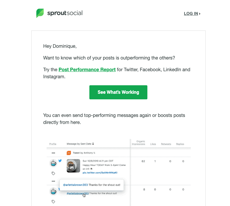 sprout social welcome email 3