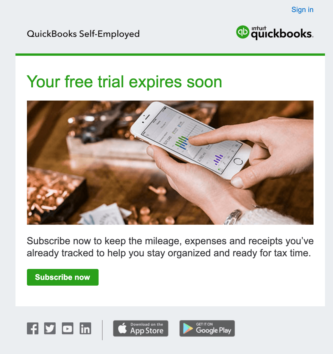 quick books free trial email