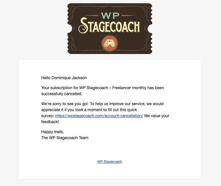wp stagecoach free trial email