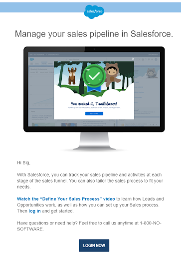 salesforce onboarding email