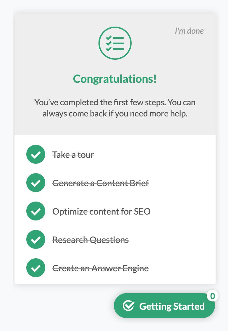 frase new user checklist