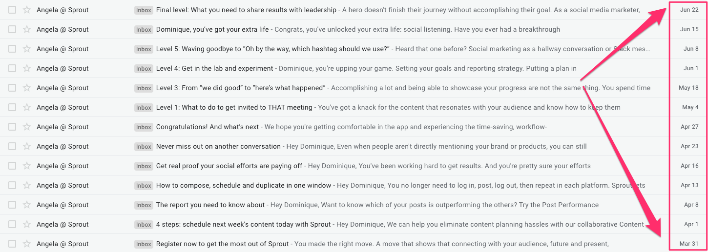 sprout social onboarding emails