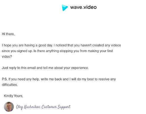 wave winback email