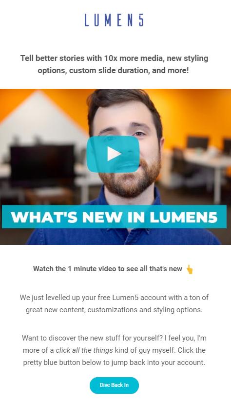 lumen5 winback email