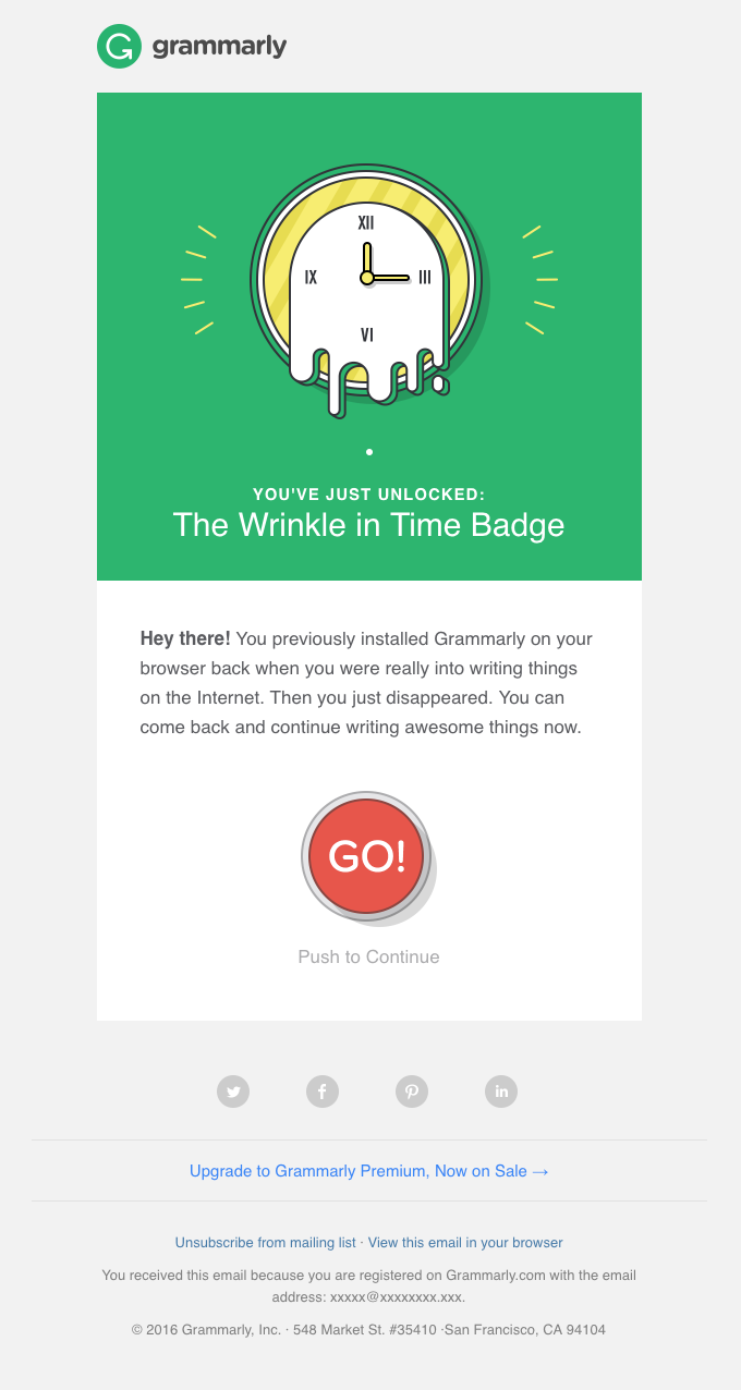 grammarly winback email