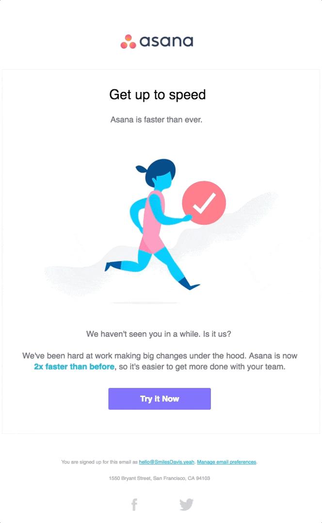 asana winback email