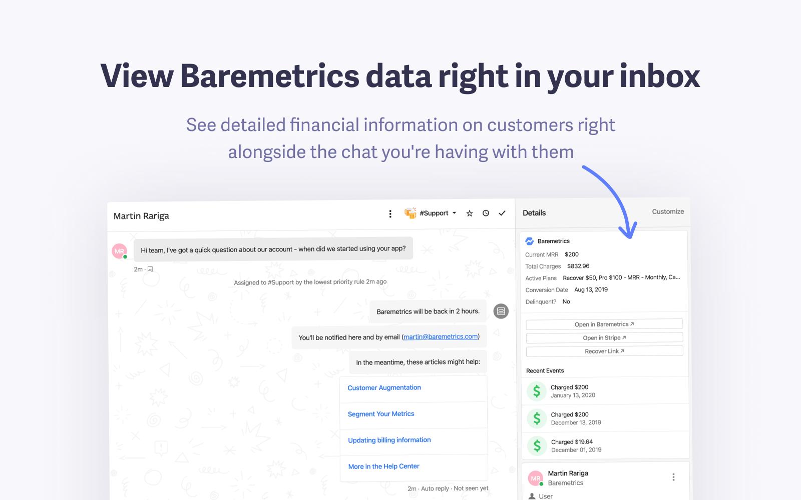 baremetrics intercom integration
