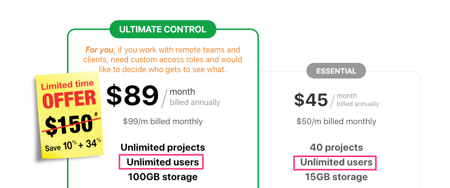 proofhub pricing