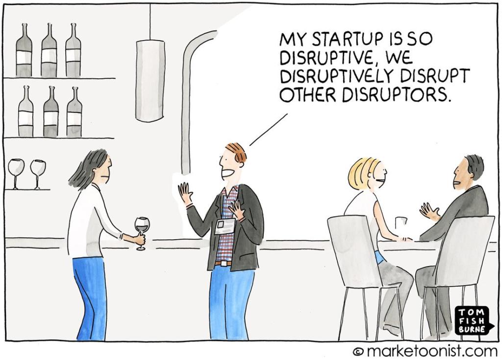 disruptive startup comic