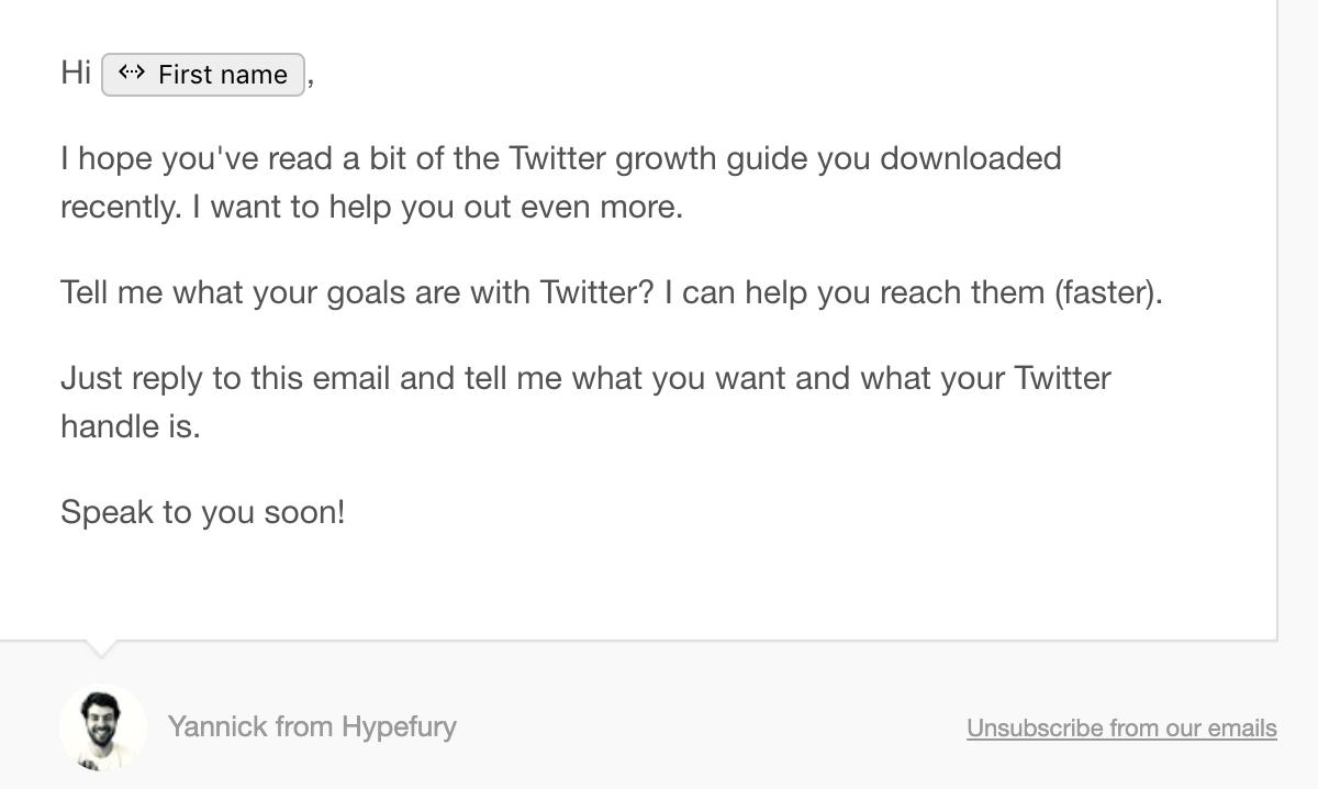 hypefury marketing email