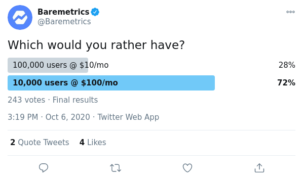 which saas business would you prefer