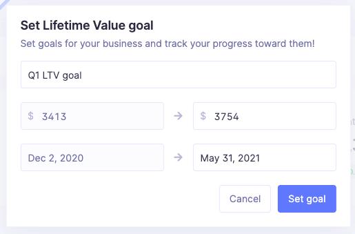 lifetime value goal