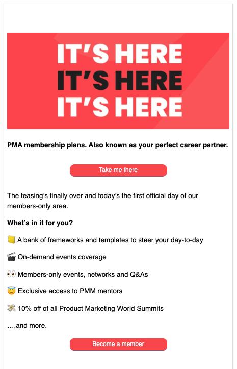 pma membership announcement