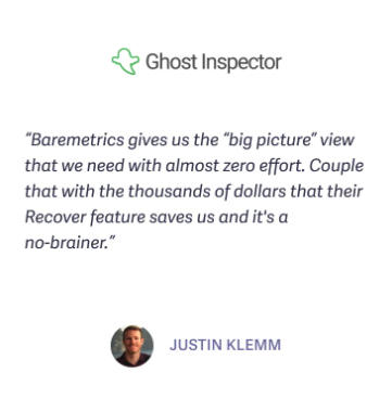 ghost inspector recover quote