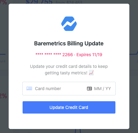 billing update notification