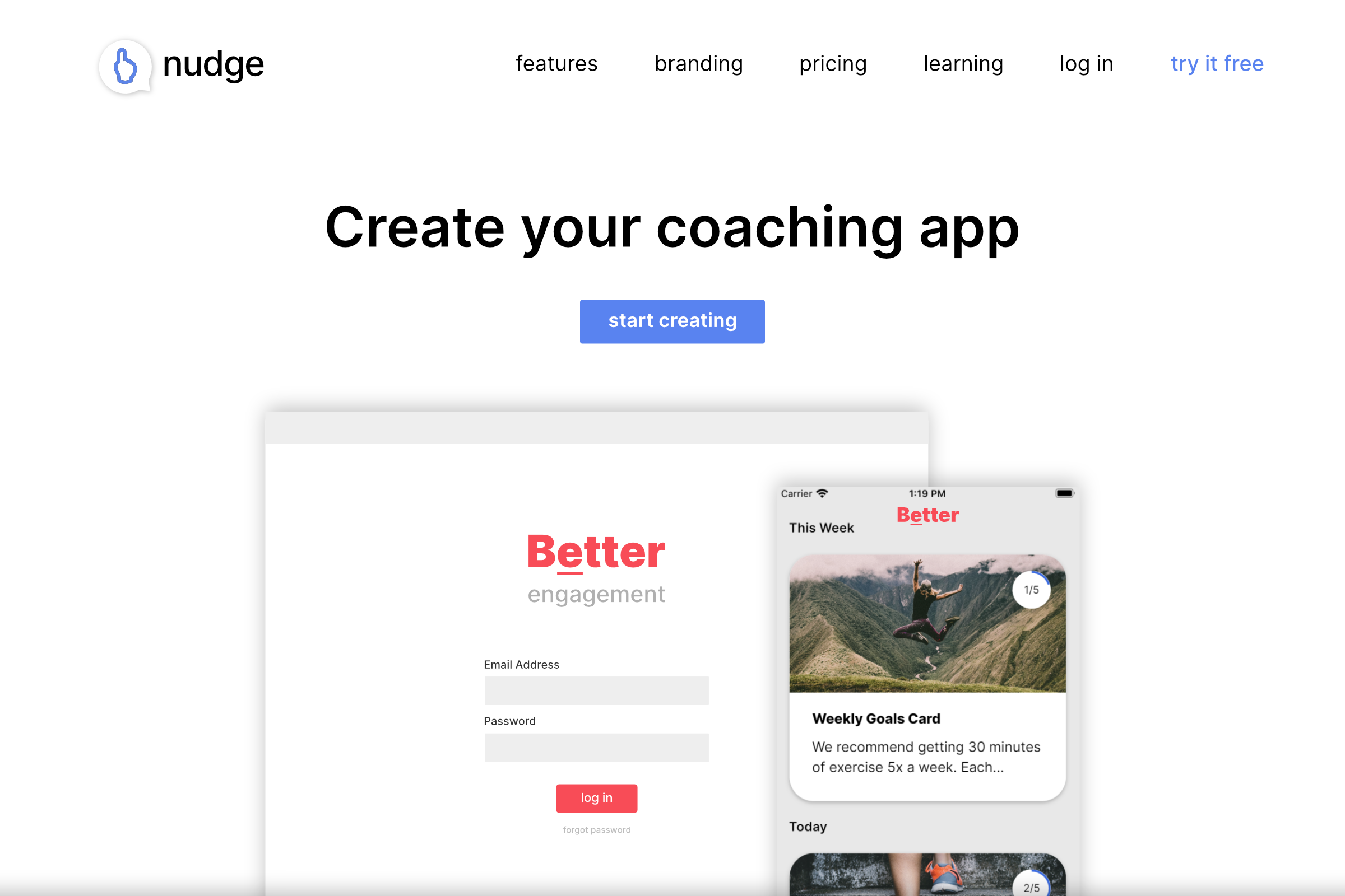 Nudge Coach's Homepage