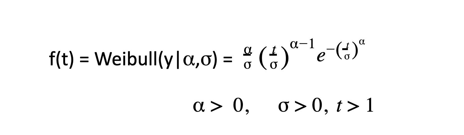 weibull probability density fxn
