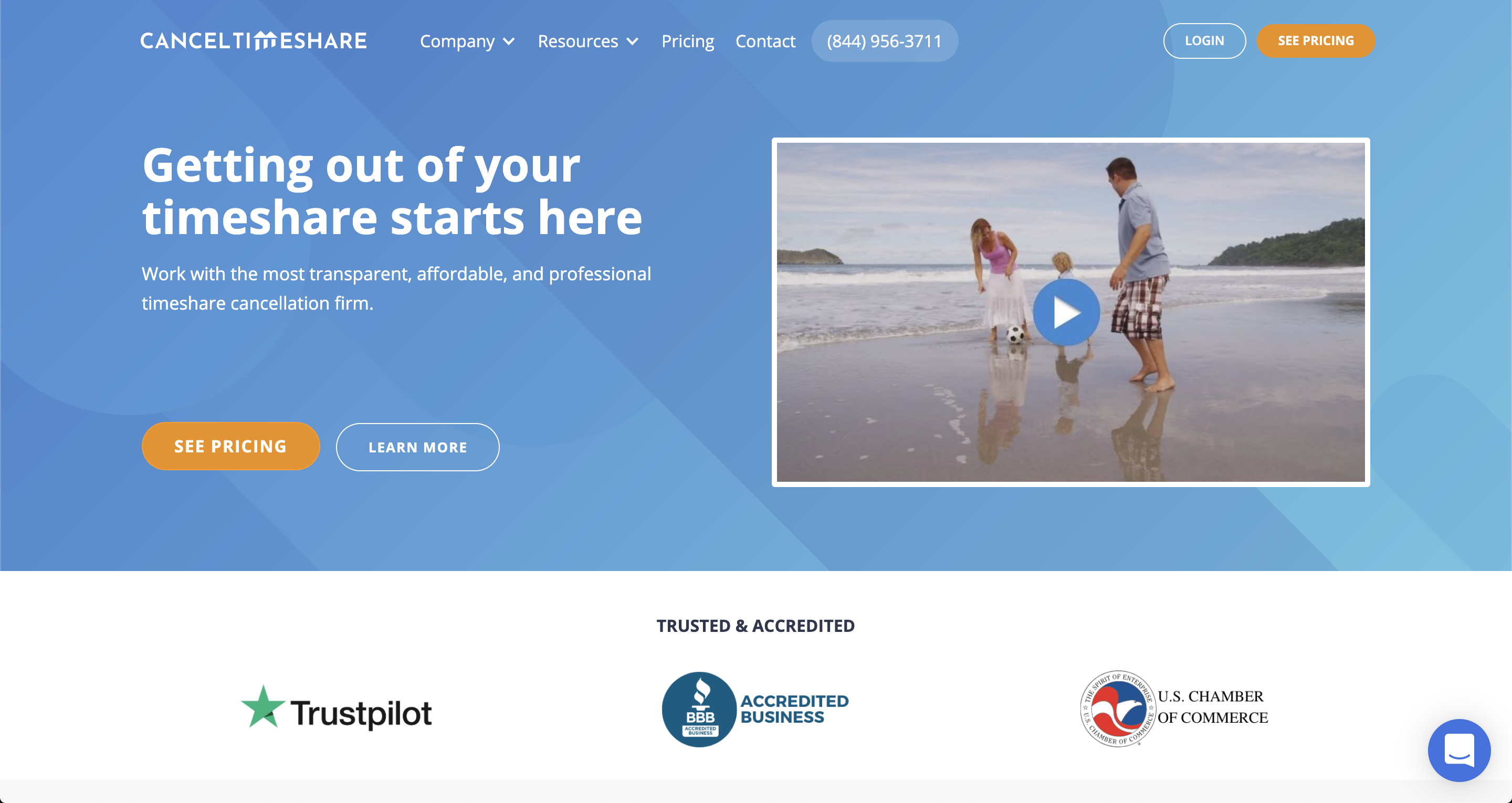cancel timeshare landing page