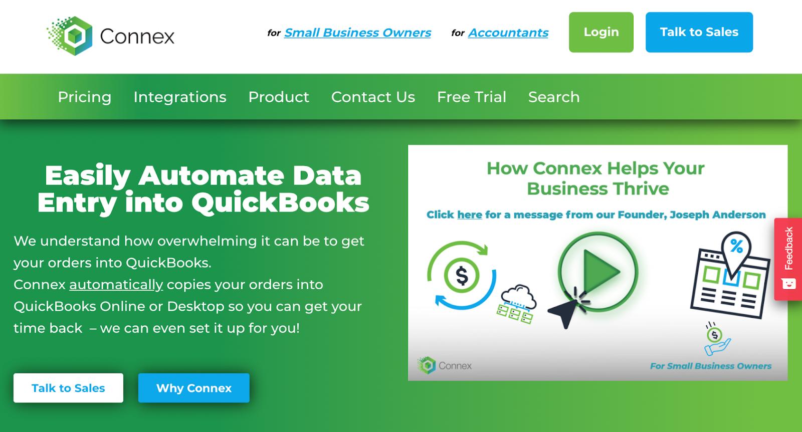 Connex Homepage
