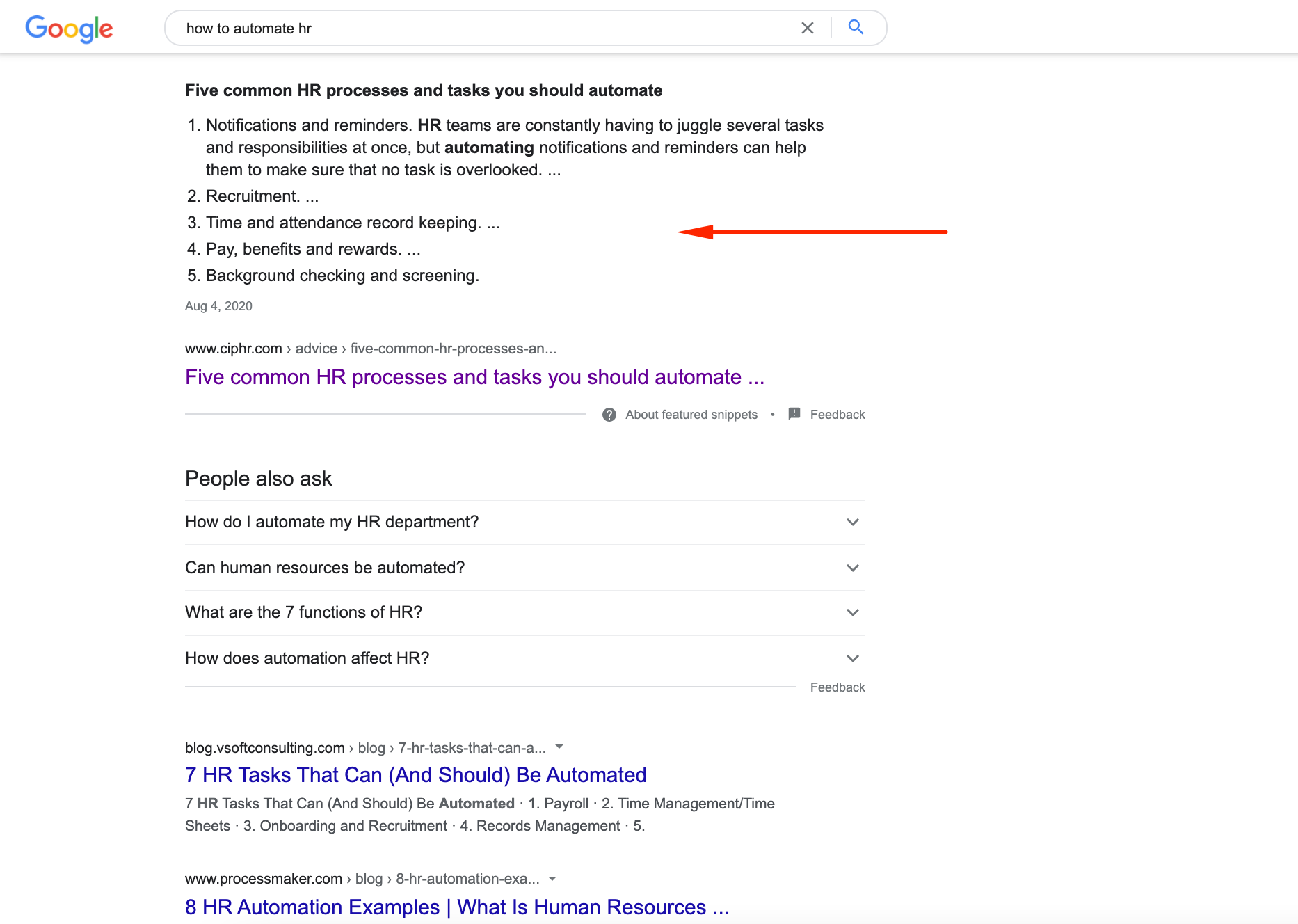 """8. Optimizing content for rich snippet Getting to the rich snippet can increase your СTR by 677% and drive much more traffic to your site. As a rule, content that fits search intent the most is more likely to be featured in rich snippets, and that's good news for SaaS companies. They could target most schema types such as review, how-to, product, video, and FAQ snippets.  For example, let's suppose that your """"how-to"""" articles match the informational intents of visitors. In that case, your site may get more clicks, longer sessions, and higher conversions (since SaaS companies can easily convert readers of their blog to explaining widespread problems and offering solutions in the articles).   Anyway, it's always better to be featured in the rich snippet. To get there, it's advised to: Use keywords with rich snippets opportunities – usually, these are long-tail keywords containing words like """"how-to,"""" """"what is,"""" etc.; Use structured data markups; Add lists and videos to your content page; Make short paragraphs with subheadings that answer specific questions."""
