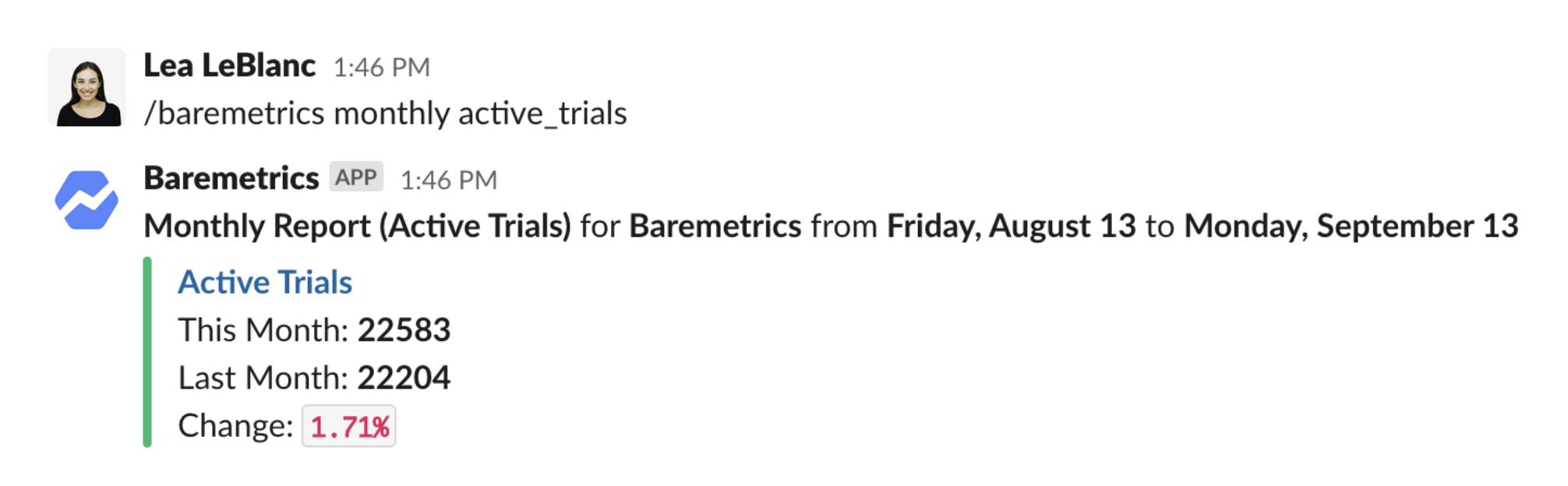 Baremetrics Slack notifications